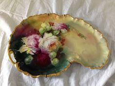 Limoges France Seidel Hand Painted Pickard Vintage Porcelain Tray #Pickard