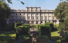 The Devoted Classicist: Palacio de Liria: The Madrid Residence Of The Duchess Of Alba  The garden view of Palacio de Liria, also known as Liria Palace, Madrid, Spain.