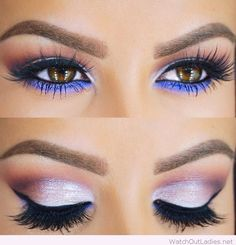 Awesome extra bright eye makeup