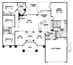 Superb Architecture House Floor Plans, 4 Bedroom House Plans, Dream House Plans,  Small House