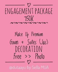 NEW PROMO ❤️ Engagement Package ❤️ With Two Choiches >> Low Budget and Premium Package ❤️ Untuk detail silahkan hubungi kontak di bio @dutaayu �� Percayakan hari spesialmu di @dutaayu ... We always serve our best, because you deserve the best �� . . . . . . . #tulungagungmakeup #muatulungagung #weddingmakeup #makeupartist #muamalang #muajakarta #muasurabaya #malangmua #muakediri #kedirimua #surabayamua #lesmakeuptulungagung #privatemakeupcoursetulungagung #kursusmakeuptulungagung…