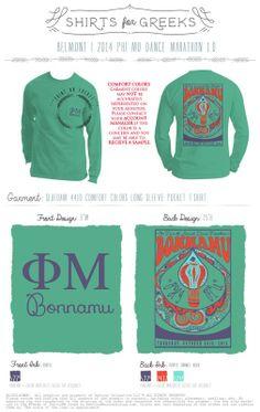 BonnaMu | Phi Mu | Philanthropy | Fundraiser | Dance | Tshirt Ideas | Cute Designs | Long Sleeve | Comfort Colors | shirtsforgreeks.com