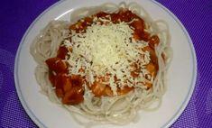 Tuna Mushroom Spaghetti Recipe Italian Spaghetti Sauce, Spaghetti Recipes, Minced Onion, Grated Cheese, Garlic Salt, How To Cook Pasta, Tuna, Salad Recipes, Stuffed Mushrooms