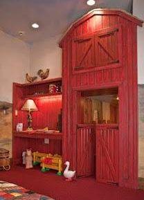 Farm themed kid's room with red play barn :: pic 1 of 2 Kinderzimmer zum Thema Bauernhof mit roter Spielscheune :: Bild 1 von 2 Bedroom Themes, Kids Bedroom, Kids Rooms, Küchen Design, Interior Design, Kid Spaces, My New Room, My Dream Home, Decoration