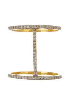 14K Gold Bar Diamond Ring - 0.28 ctw by Forever Creations USA Inc. on @HauteLook