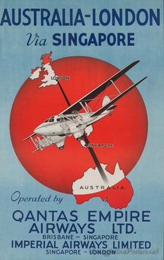 Early Qantas poster