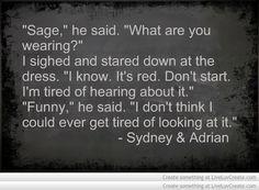Bloodlines quotes | Sydney & Adrian | <3
