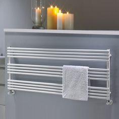 TRC BDO 25 Single Towel Rail, 584mm High x 1400mm Wide, White / colours available  #retail#heating Towel Rail, House, Home, Towel, Colours, New Homes, Bathroom, Towel Rack, White