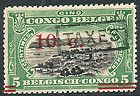 Belgian Congo, Scott #80, 10c on 5c Green & Black, (TAXES Ovpt) MNH - &amp, Belgian, Black, Congo, Green, ovpt, SCOTT, Taxes