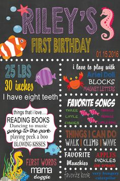 Under the Sea Theme Milestone Posters- Please click on the poster twice to follow me on FB & to place orders