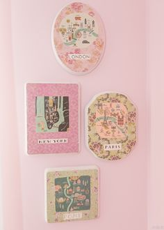 Cute vintage style wall plaques in the nursery #vintagenurserywalldecor