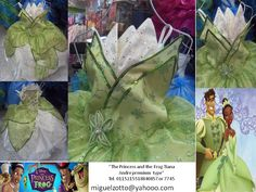 Tiana the princess and the frog costume dress disguise dressup cosplay ball gown cupcake cheap national glitz pageant contest themed performer party play sweet 16 green white bat mitzvah presentation 3 year prom quince quinceanera for girl or adult Tiana traje vestido disfraz disney la princesa y el sapo presentacion de 3 años boda paje graduacion kinder
