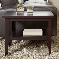 Have to have it. Jesper Pure Home Rectangle Espresso Wood End Table - $329 @hayneedle