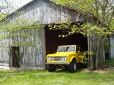 A barn, a bronco, a tiny house off to the side, and plenty of acres to wander in? Sounds like paradise to me.