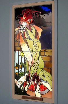Stained glass window by George de Feure , ca. 1901-1902, Virginia Museum of Fine ARts in Richmond.