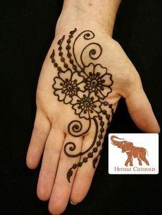 simple henna flower - Google Search
