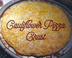 Gluten free, grain free Cauliflower Pizza Crust.  21 Day Fix Friendly.  http://thatswhatsfordinner.blogspot.com/2015/02/cauliflower-pizza-crust.html?spref=pi