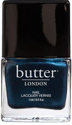 Big Smoke Nail Lacquer by butter London - Metallic Navy Blue Nail Polish