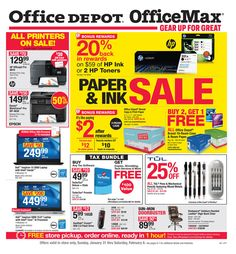 Office Depot  Officemax Ad September   October    Http