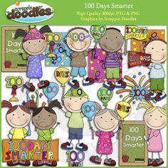 100 Days Smarter Clip Art Download - $3.50 : Scrappin Doodles, Creative Clip Art, Websets & More