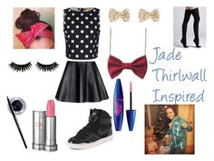 """Jade Thirwall Inspired"" by little-mix-fashionlover ❤ liked on Polyvore featuring Alice + Olivia, Opening Ceremony, NIKE, Boohoo, Maybelline, Lancôme, Commando, Inspired and bows"
