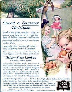 Rock Island Railroad, Spend a Summer Christmas (1910) ONeill - 003by Rosie O.Neill of Kewpie fame