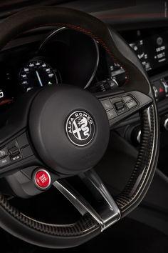 2017 Alfa Romeo Giulia Quadrifoglio This steering wheel, paddles, Jeep logo, red baseball stitching Luxury Car Logos, New Luxury Cars, Small Luxury Cars, Alfa Romeo Logo, Alfa Romeo Cars, Alfa Cars, Ferrari, Lamborghini, Maserati