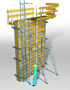 Shear wall moulding with the use of industrial metalwork