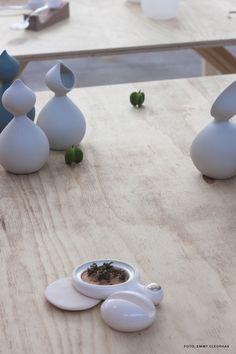 #Fuorisalone 2015  Caro pouring jug & Fen ceramic fragrance, design by Belli, Studio for Design Riccardo Belli