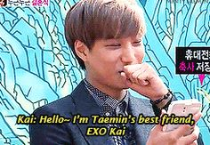 "Kai's (EXO) speech at Taemin's (SHINee) ""wedding"".  (.gif set)."