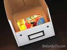 Hometalk | Organizing the Cans in Your Pantry With 50 Cent Photo Boxes