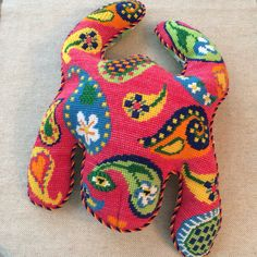 Paisley frog ~ Canvas by Julie Pischke