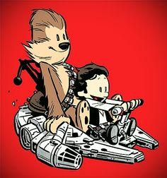 Calvin & Hobbes + Star Wars= LOVE