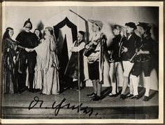 Joseph Goebbels with a guitar (center) during a school play