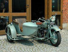 Old motorcycle - Sleza, Dolnoslaskie