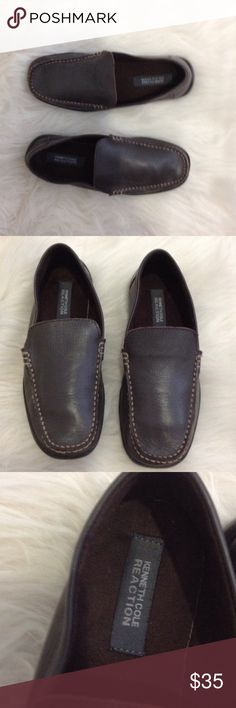 Kenneth Cole Brown Loafer Sz 5,  Women's 6.5/7 Super comfortable Kenneth Cole Loafer, like new! Boy/Men size 5, women's 6.5-7. I'm wearing them in the last pic... they fit me best with thick socks and I'm a 6.5. Obviously if you are getting these for your son, none of that matters, unless you want to wear them when he grows out of them Kenneth Cole Reaction Shoes