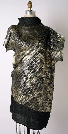 Dress, Issey Miyake, Miyake Design Studio, F/W 1994-95, Japanese, polyester