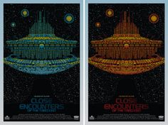 "As in the rock-poster world, variants are a key part of Mondo's publishing strategy. Todd Slater's ""Close Encounters"" poster on the left was..."