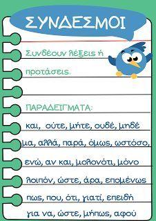 Preschool Education, Elementary Education, Teaching Kids, Vocabulary Exercises, Grammar Exercises, Greek Language, Speech And Language, Language Activities, Learning Activities