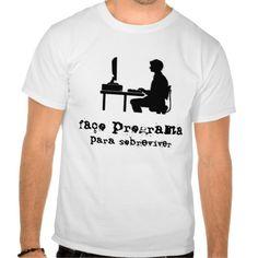 Camisetas com mensagens para programadores