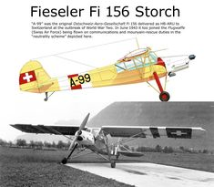 Fieseler Fi 156 Storch Ww2 Aircraft, Military Aircraft, Luftwaffe, The Art Of Flight, Bush Plane, Swiss Air, Aircraft Painting, Ww2 Planes, Military Photos