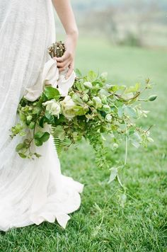 large green + white bouquet