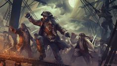 Pirates, Giuliano Brocani on ArtStation at https://www.artstation.com/artwork/yX18
