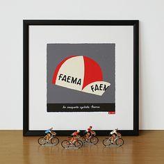 Faema cap print framed