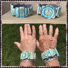 Polymer clay, swirls, mother's day, gift. Premo, Fimo, Cernit Stretch Bracelets, Cuff Bracelets, Swirls, Polymer Clay, Gifts, Fimo, Presents, Favors, Gift