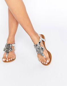 Image 1 of River Island Embellished Flat Sandal