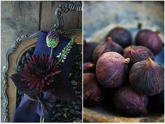 Figs give that good plum color Rain Wedding, Plum Wedding, Art Deco Wedding, Wedding Themes, Wedding Colors, Wedding Flowers, Dream Wedding, Wedding Decorations, Wedding Ideas