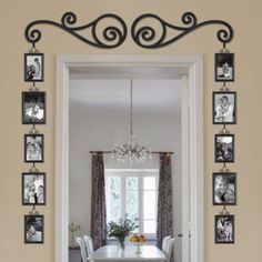 Frame and Scroll 12-Piece Set - Bed Bath and Beyond $29.99 - Nice way to display pictures.