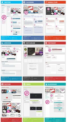 Complete Social Media Sizing Cheat Sheet 2014 - #infographic