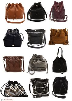 fall winter style bucket bag - love them all!